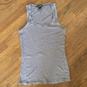 Banana republic brown and white striped tank med